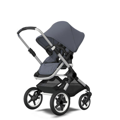 Bugaboo Fox Pushchair - Steel Blue + Aluminium-Strollers- Natural Baby Shower