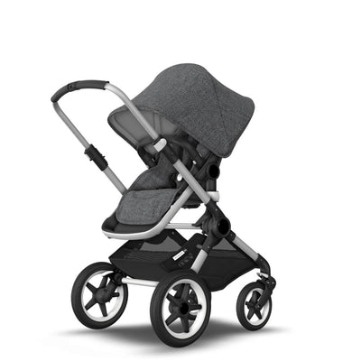 Bugaboo Fox Pushchair - Grey Melange + Aluminium-Strollers- Natural Baby Shower