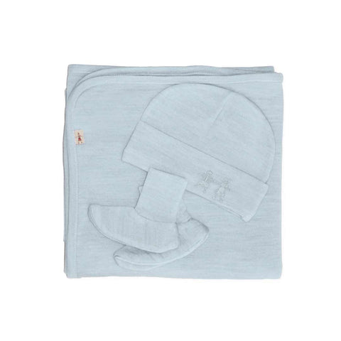Merino Kids Cocooi Blanket, Bootie & Hat Set - Turtle Dove