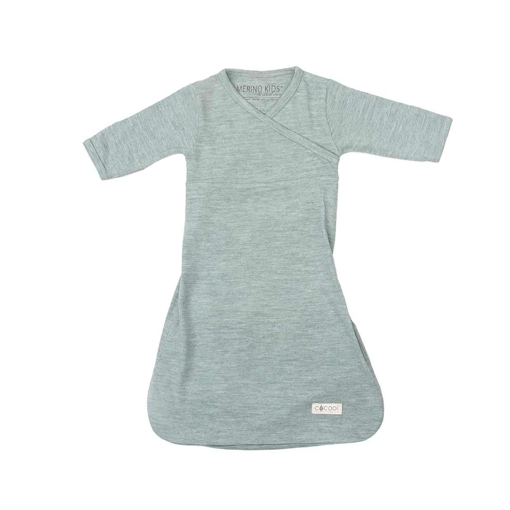 Merino Kids Cocooi Gown - Mint-Sleep Gowns-0-3m-Mint- Natural Baby Shower