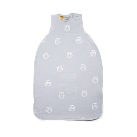 Merino Kids Go Go Toddler Sleeping Bag - Standard - Owl Print Light Grey-Sleeping Bags-Toddler-Light Grey- Natural Baby Shower