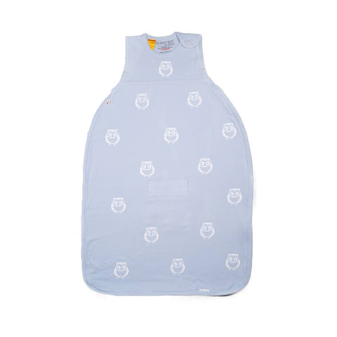 Merino Kids Go Go Toddler Sleeping Bag - Standard - Owl Print Sky-Sleeping Bags-2-4y-Sky- Natural Baby Shower