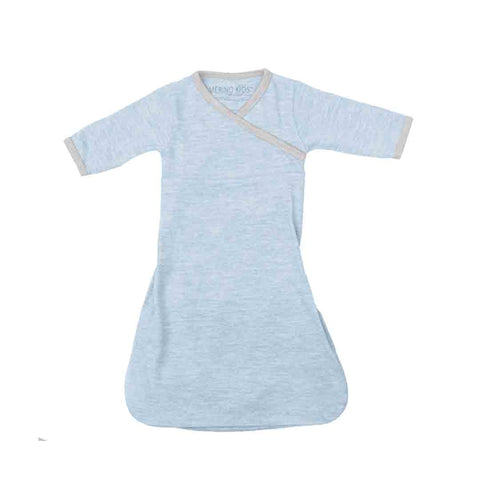 Merino Kids Gown - Skye-Sleep Gowns-3-12m-Skye- Natural Baby Shower