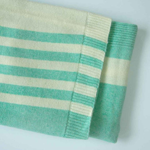 Merino Kids Lambswool Cot Blanket - Light Green-Blankets- Natural Baby Shower