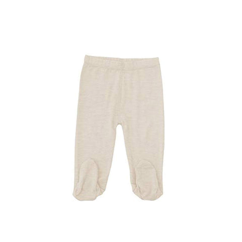 Merino Kids Leggings - Honey Oat-Leggings-0-3m-Honey Oat- Natural Baby Shower