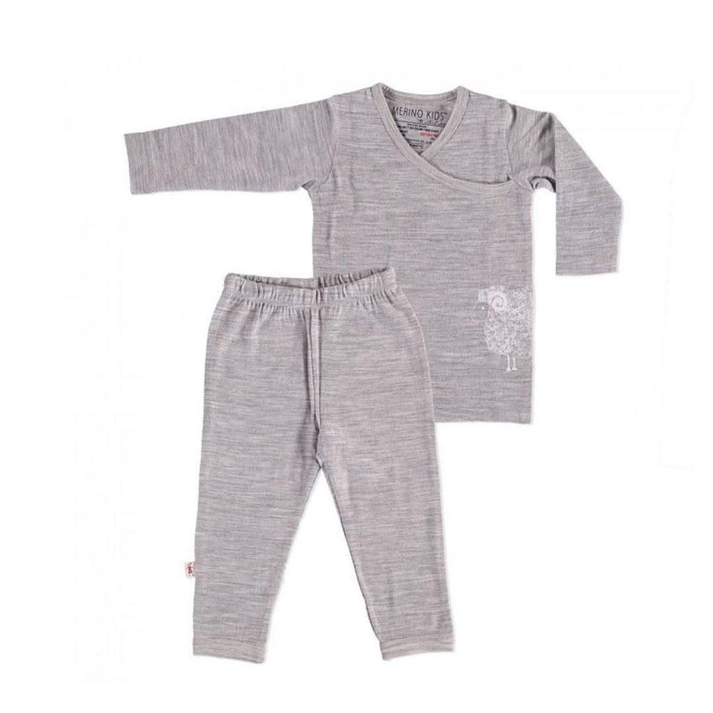 Merino Kids Pyjamas Grey/Grey