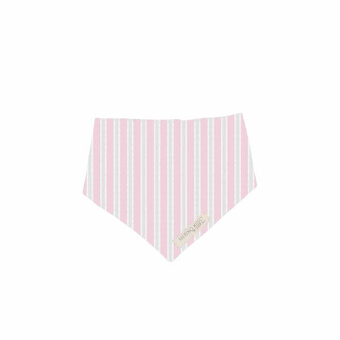 Merino Kids Bib Pink/Grey