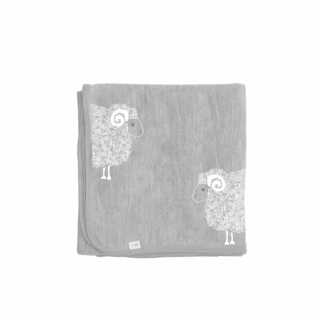 Merino Kids Blanket in Grey Grey Print