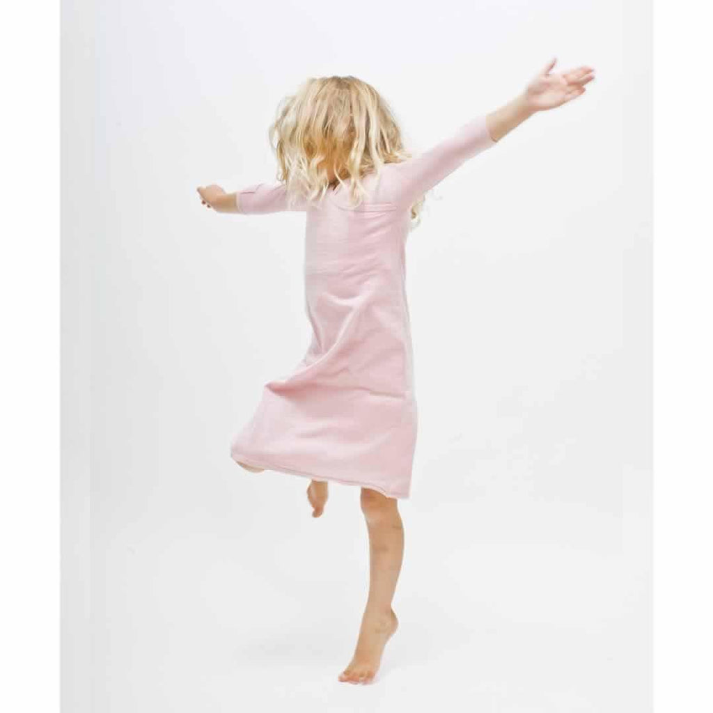 Merino Kids Gown - Light Pink-Sleep Gowns-3-12m-Light Pink- Natural Baby Shower
