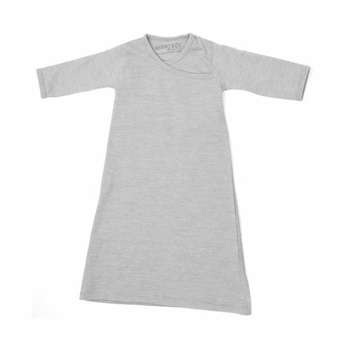 Merino Kids Essentials Gown in Turtle Dove