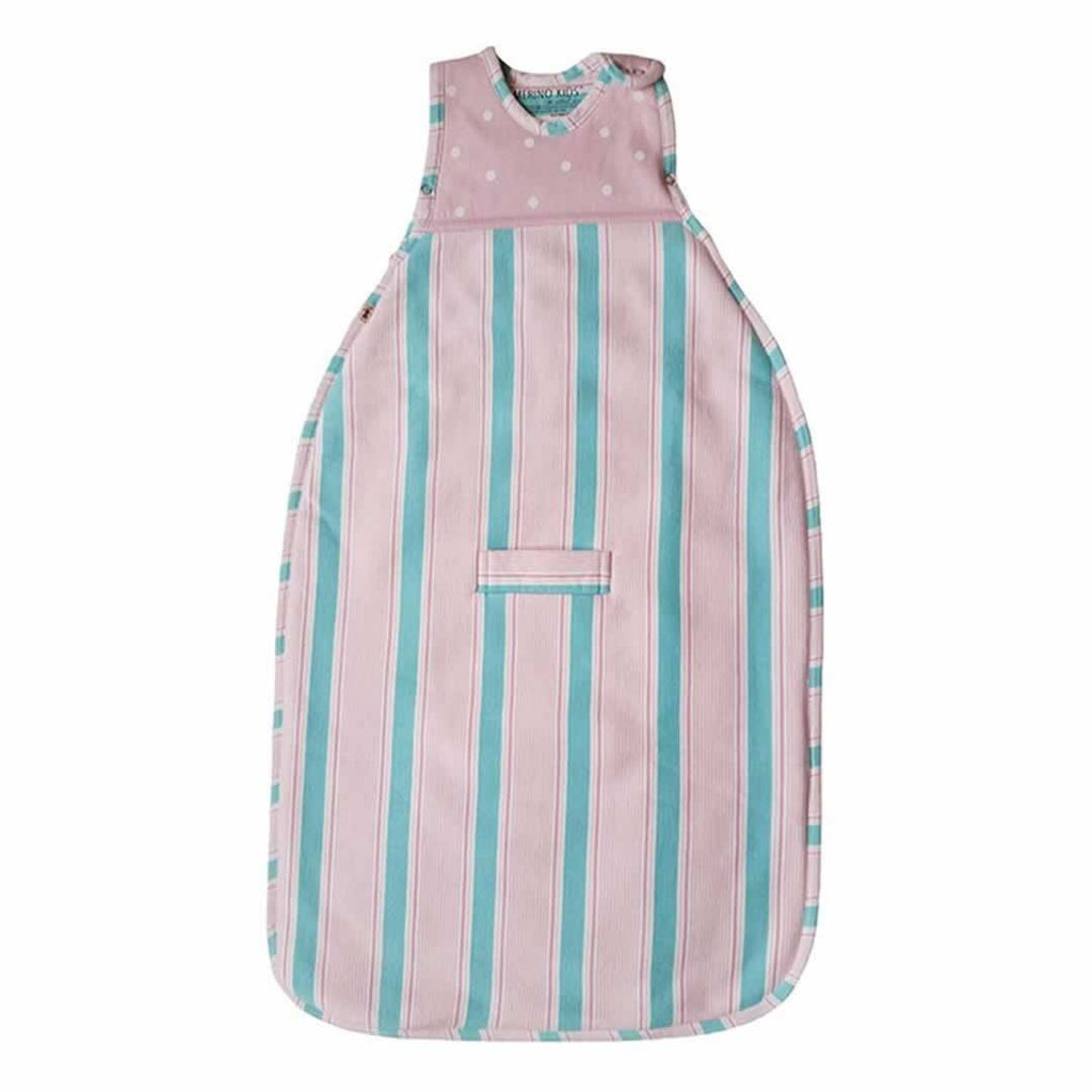 Merino Kids Go Go Baby Sleeping Bag Winter Weight Pink/Aqua