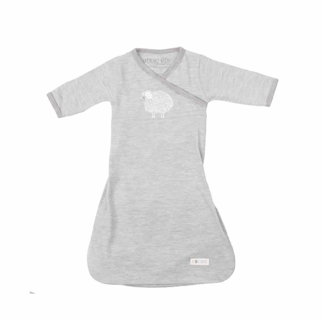 Merino Kids Gown in Grey/Grey