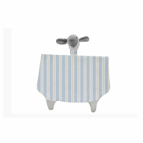 Merino Kids Toy Sheep in Sky/Grey Stripe
