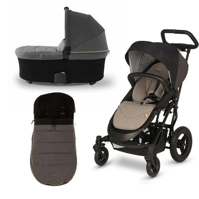 Micralite SmartFold Bundle - Carbon-Stroller Bundles- Natural Baby Shower