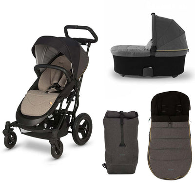 Micralite SmartFold Bundle 2 - Carbon-Stroller Bundles- Natural Baby Shower
