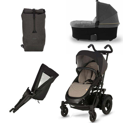 Micralite TwoFold Bundle - Carbon-Stroller Bundles- Natural Baby Shower