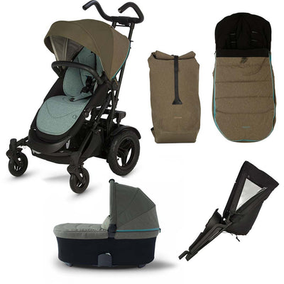 Micralite TwoFold Bundle 2 - Evergreen-Stroller Bundles- Natural Baby Shower