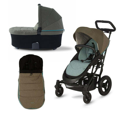 Micralite SmartFold Bundle - Evergreen-Stroller Bundles- Natural Baby Shower