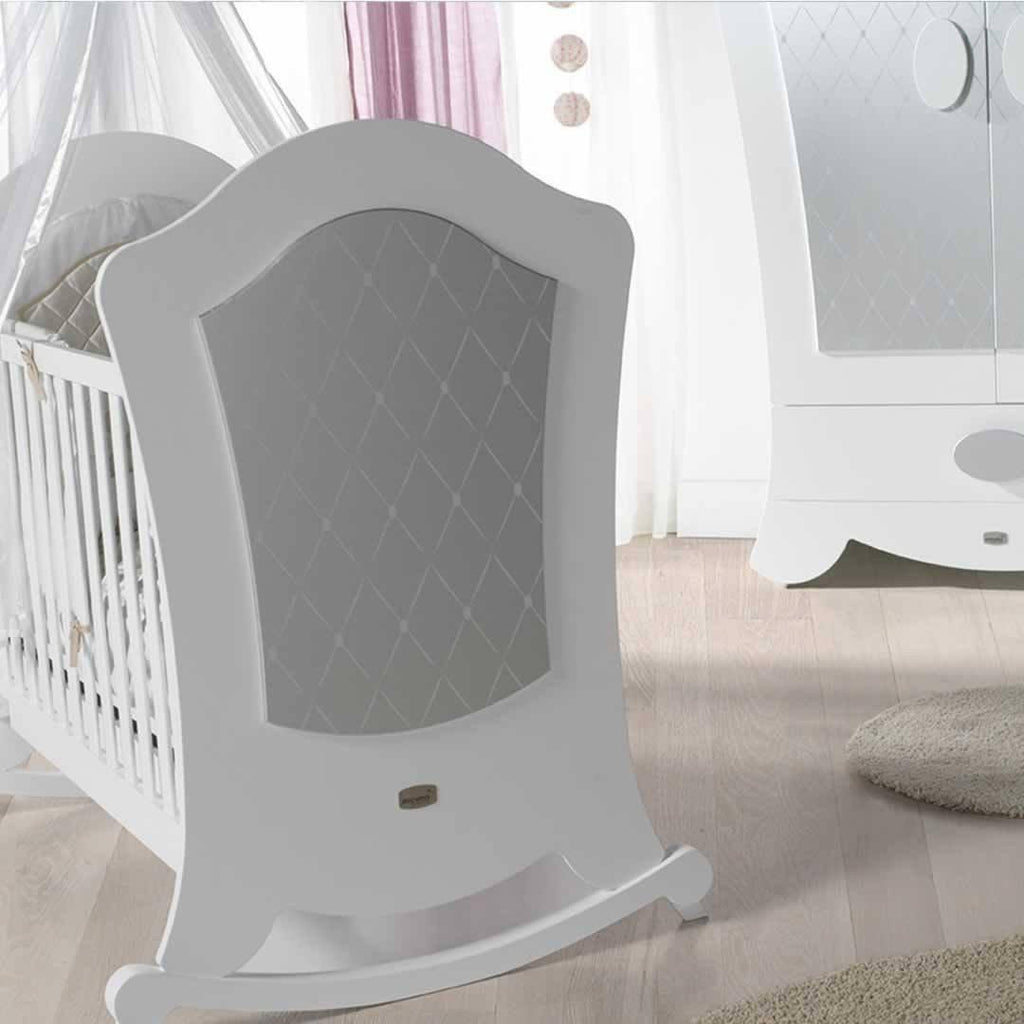 Micuna Alexa Cot Bed - Silver Detail
