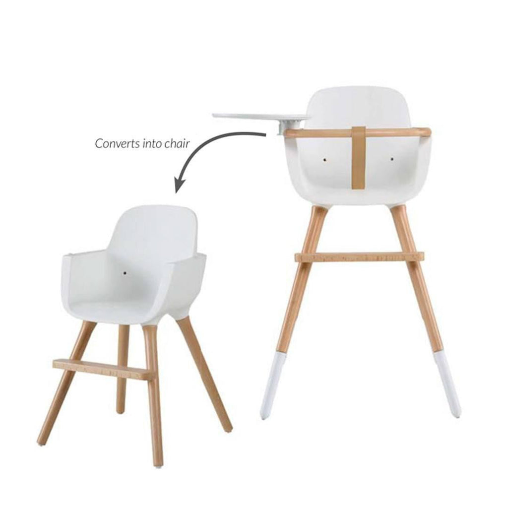 Micuna Ovo Luxe High Chair + Beige Leatherette Harness Conversion