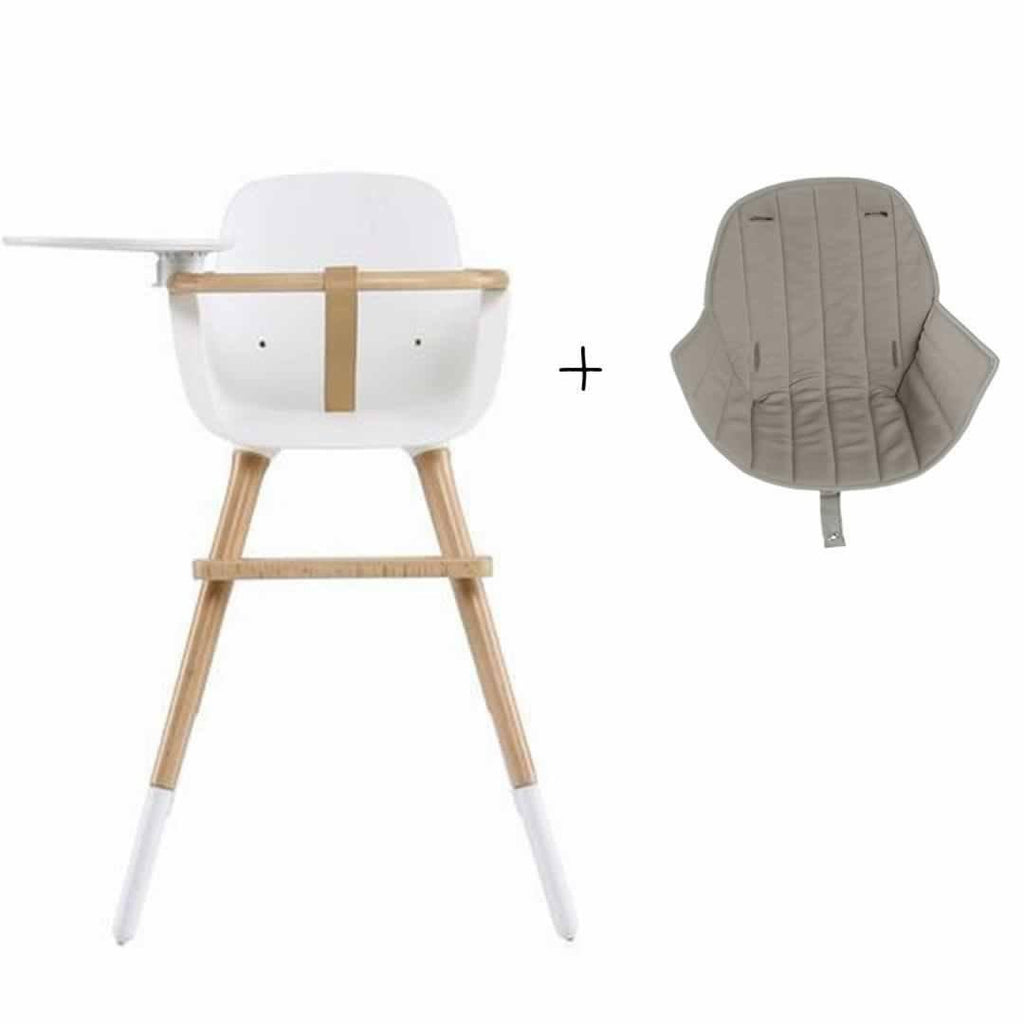 Micuna Ovo Luxe High Chair and Beige Seat Fabric