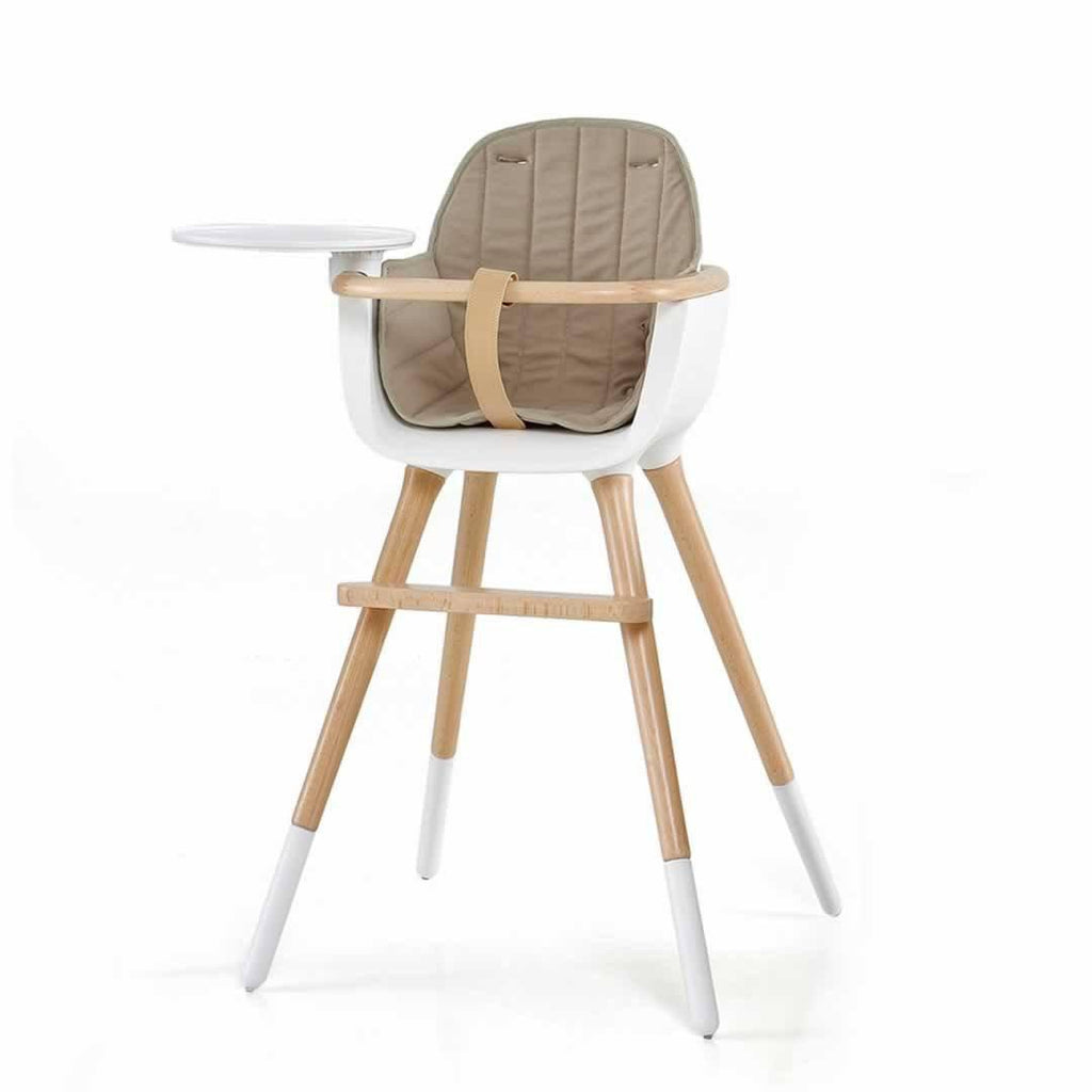 Micuna Ovo Luxe High Chair + Beige Seat Fabric Lifestyle