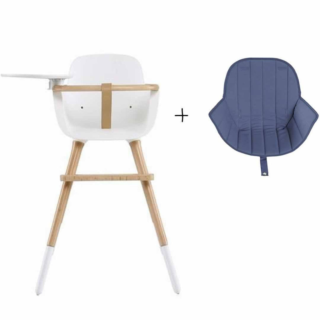 Micuna Ovo Luxe High Chair and Blue Seat Fabric