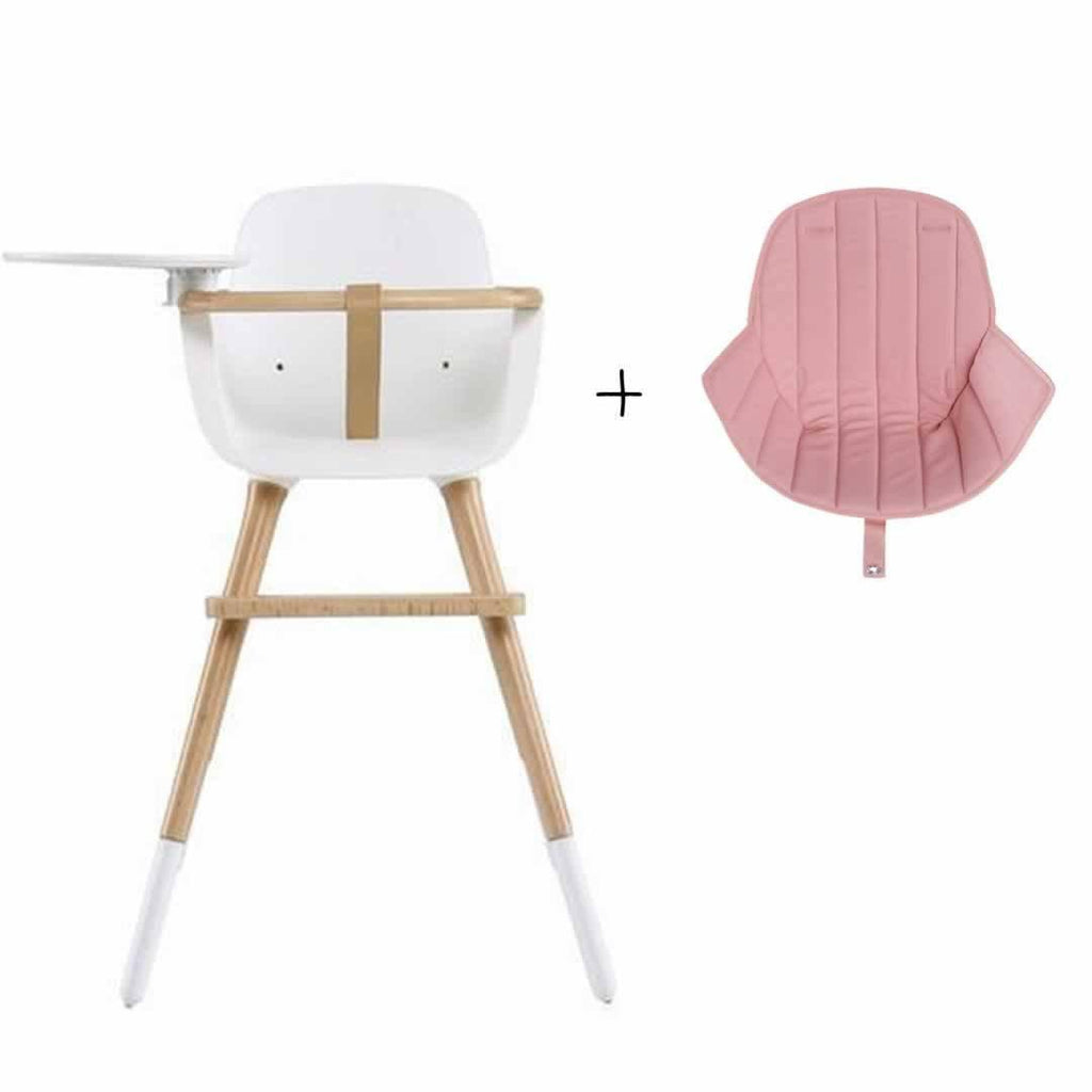 Micuna Ovo Luxe High Chair and Pink Seat Fabric