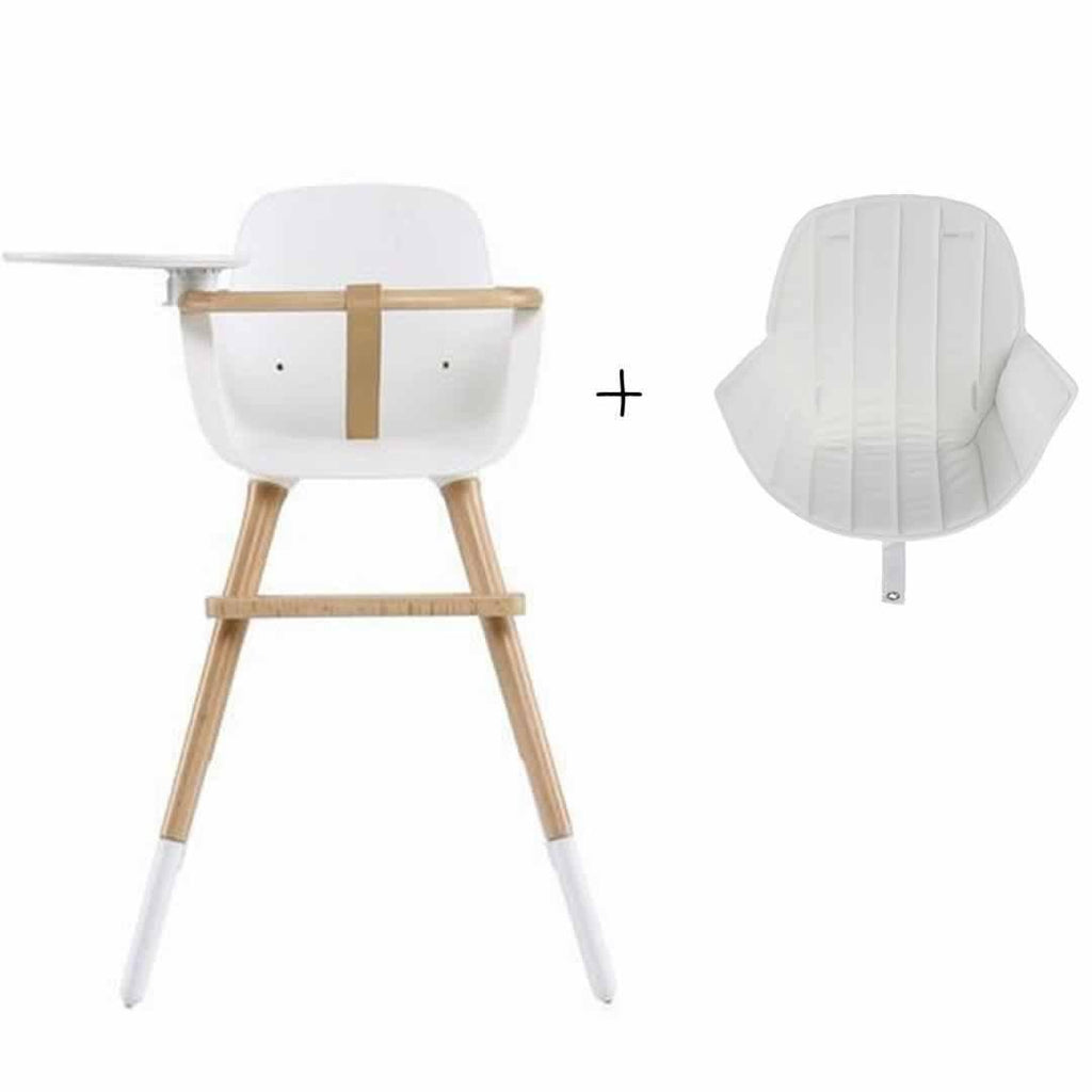 Micuna Ovo Luxe High Chair and White Seat Fabric