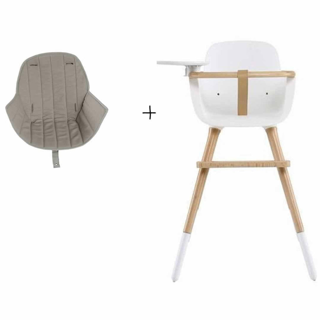 Micuna Ovo Plus High Chair and Beige Seat Fabric