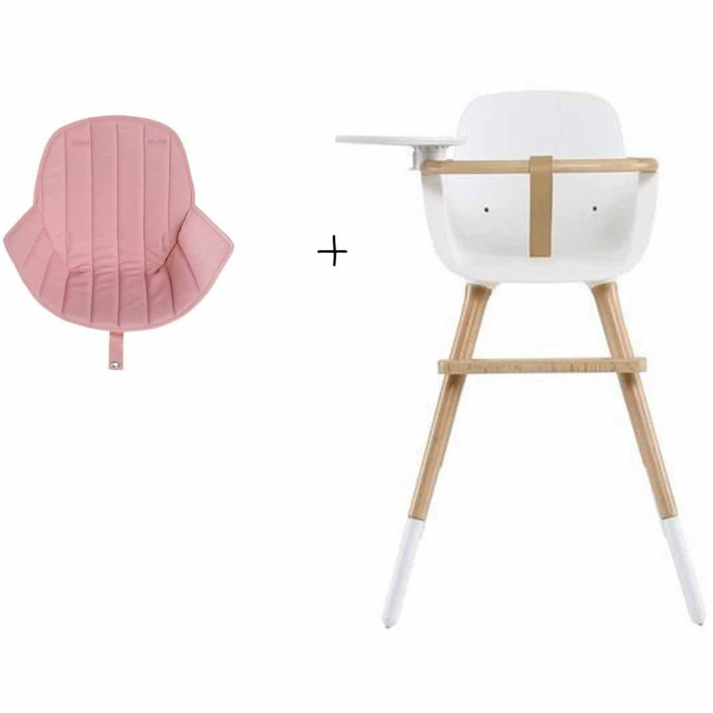 Micuna Ovo Plus High Chair and Pink Seat Fabric
