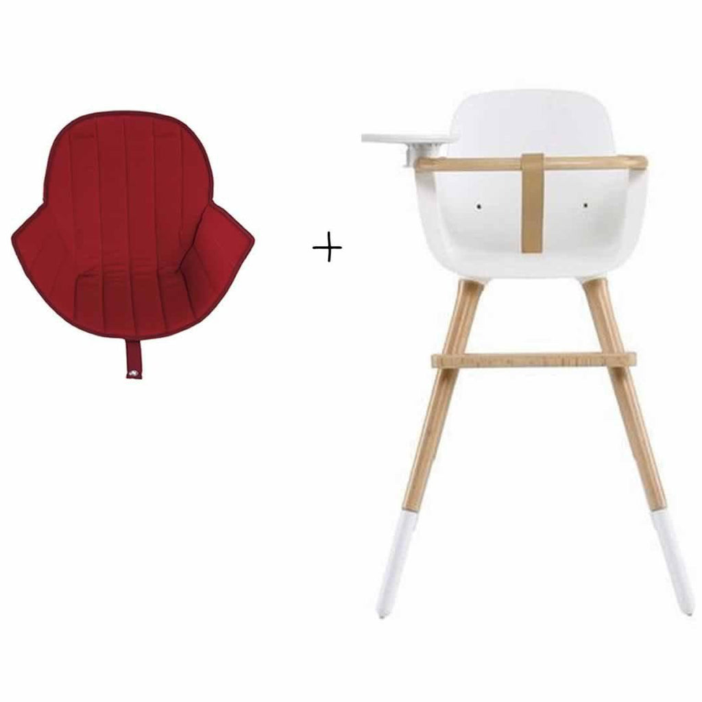 Micuna Ovo Plus High Chair and Red Seat Fabric