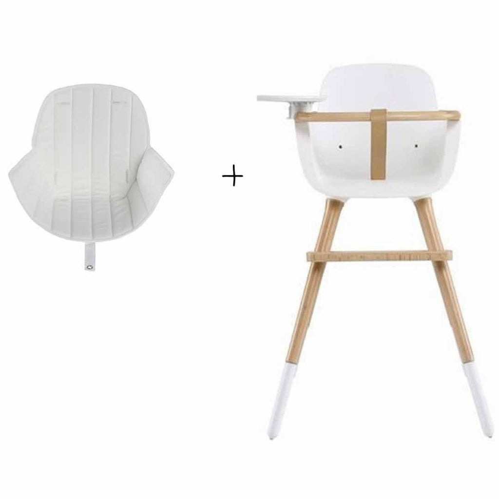 Micuna Ovo Plus High Chair and White Seat Fabric