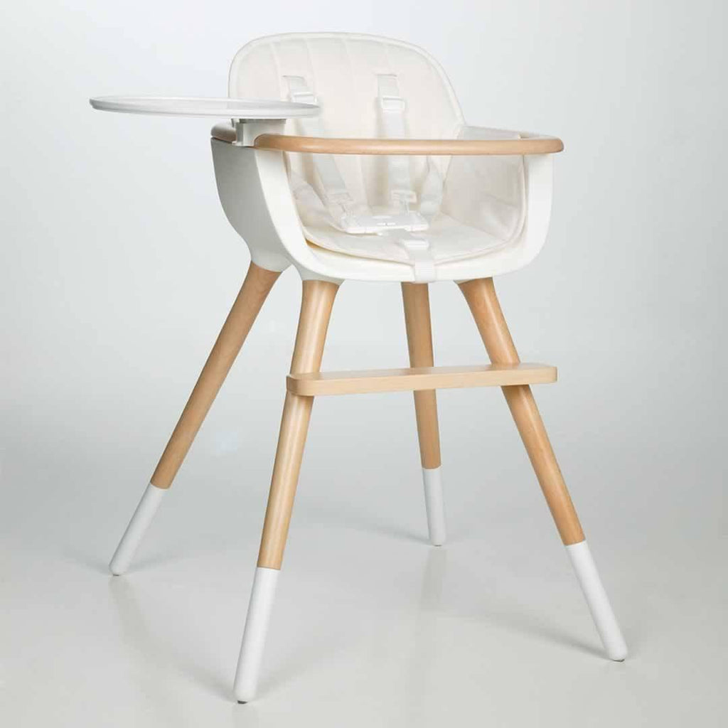 Micuna Ovo Plus High Chair + White Seat Fabric Lifestyle