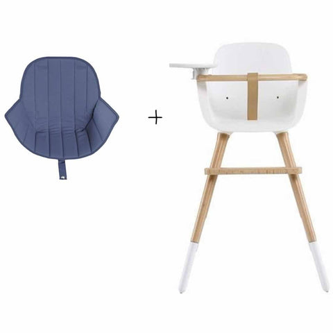 Micuna Ovo Plus High Chair and Blue Seat Fabric
