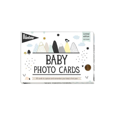 Milestone Baby Photo Cards - Over The Moon-Greeting Cards-Default- Natural Baby Shower