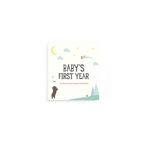 Milestone Baby's First Year Album-Photo Albums-Default- Natural Baby Shower