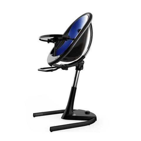 Mima Moon Highchair - Black with Royal Blue Seat Pad-High Chairs- Natural Baby Shower
