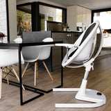 Mima Moon Highchair - White with Silver Seat Pad-High Chairs- Natural Baby Shower