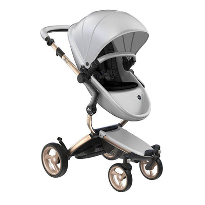 Mima Xari Pushchair - Argento + Champagne-Strollers-Pure Black- Natural Baby Shower