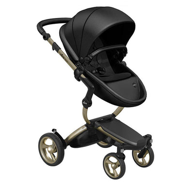 Mima Xari Pushchair - Black Flair + Champagne-Strollers-Pure Black- Natural Baby Shower
