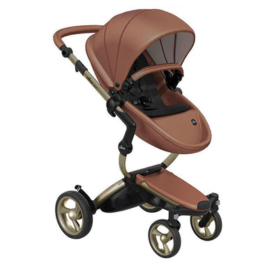 Mima Xari Pushchair - Camel Flair + Champagne-Strollers-Pure Black- Natural Baby Shower