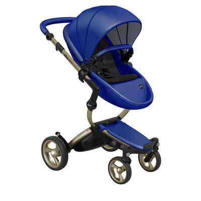 Mima Xari Pushchair - Royal Blue + Champagne-Strollers-Pure Black- Natural Baby Shower