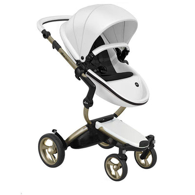 Mima Xari Pushchair - Snow White + Champagne-Strollers-Pure Black- Natural Baby Shower