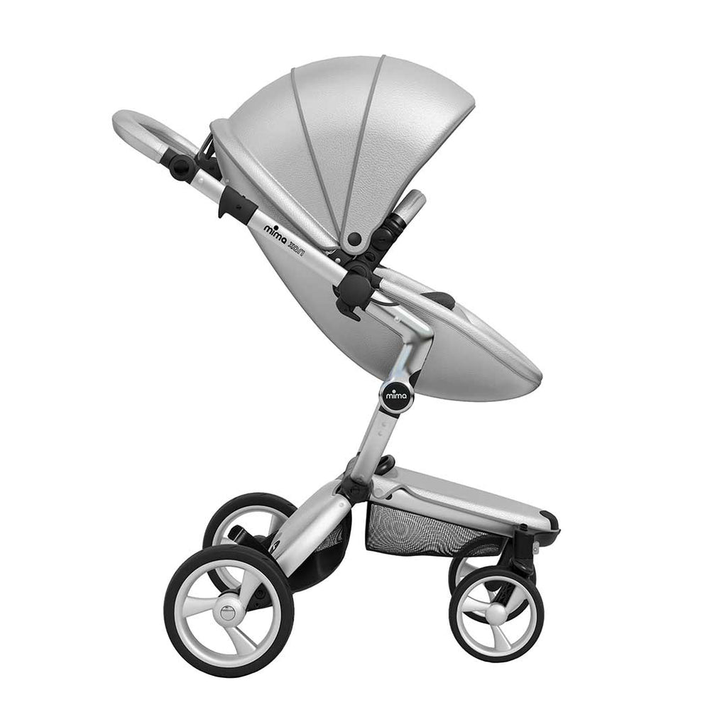 Mima Xari Single Pushchair - Argento with Aluminium Chassis-Strollers- Natural Baby Shower