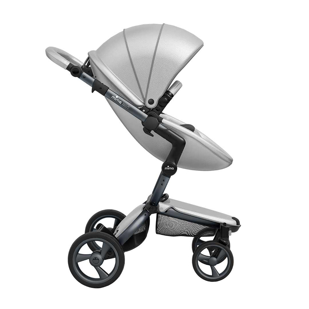 Mima Xari Single Pushchair Argento With Graphite Grey Chassis
