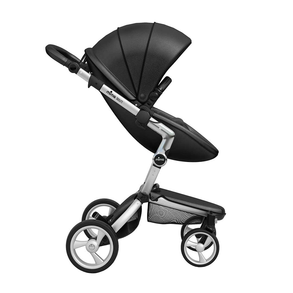 Mima Xari Single Pushchair - Black Flair with Aluminium Chassis-Strollers- Natural Baby Shower