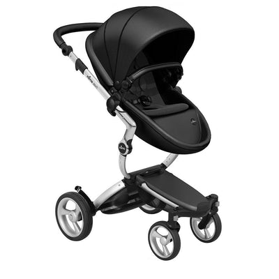 Mima Xari Pushchair - Black Flair + Aluminium-Strollers-Pure Black- Natural Baby Shower