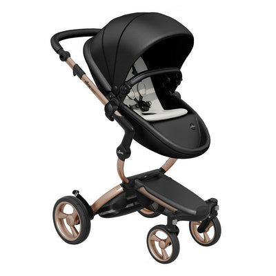 Mima Xari Single Pushchair - Black Flair with Rose Gold Chassis - Ex-Display-Strollers-Stone White- Natural Baby Shower