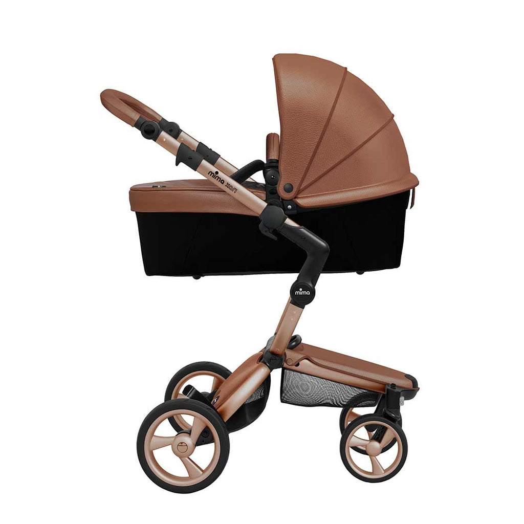 Mima Xari Single Pushchair - Camel Flair with Rose Gold Chassis-Strollers- Natural Baby Shower